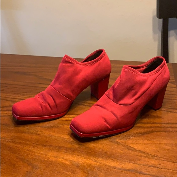 Madeline Shoes - Red booties